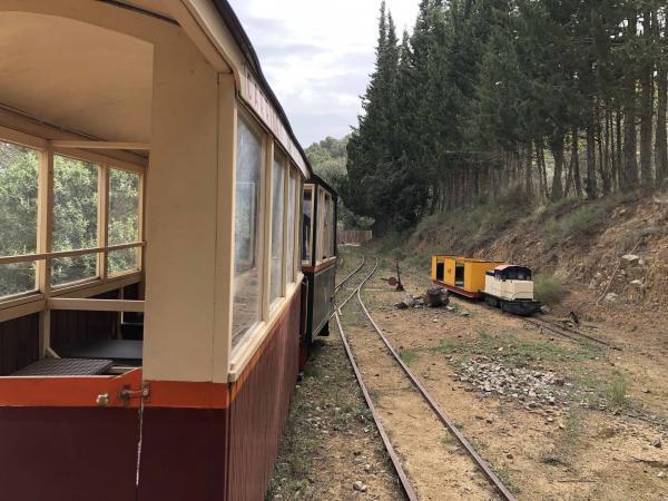 Carrilet de Vilamanya, un tren en Riudecanyes Con niños