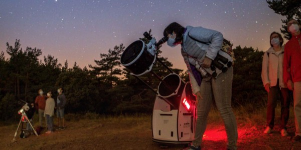Parc astronòmic de Prades amb nens
