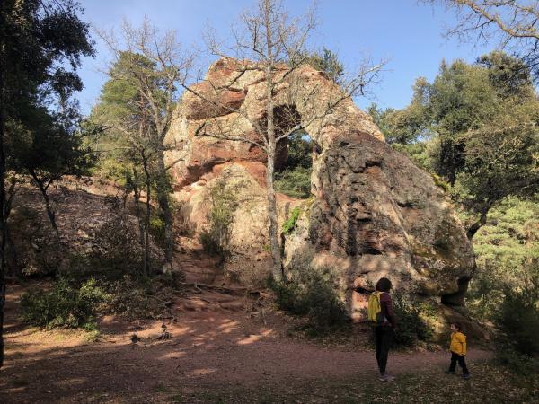 La Roca Foradada de Prades amb nens