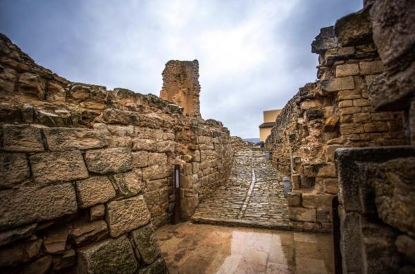 Castell de Solivella amb nens