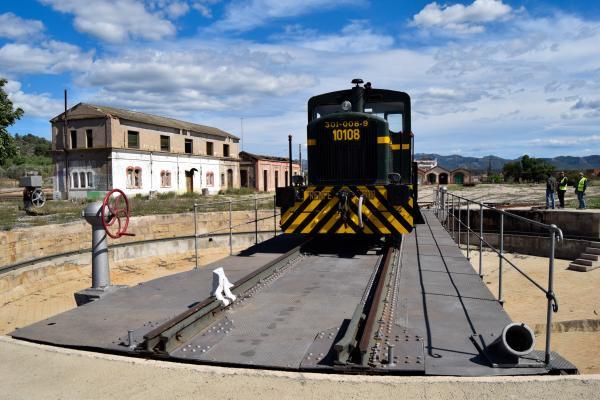 Centre d'Interpretació del ferrocarril de Móra la Nova amb nens